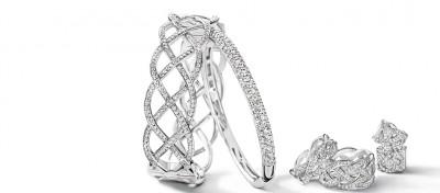 Inspirationsbild - smycken i rhodierat silver med vita CZ